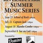 Riverside Summer Music Series Announced