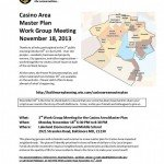 Casino Area Master Plan Work Group Meeting on 11/18