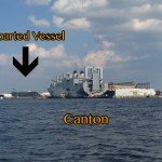 Four Large Vessels Depart the Baltimore Harbor