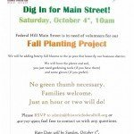 Dig in For Main Street on Saturday, October 4th