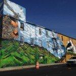 Large Mural Underway at 1400 Warner St. Near Horseshoe Casino Baltimore