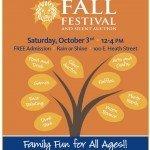 Thomas Johnson Fall Festival on Saturday, October 3rd