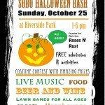 SoBo Halloween Bash on October 25th at Riverside Park