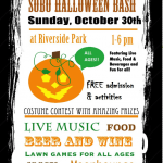 SoBo Halloween Bash at Riverside Park on October 30th