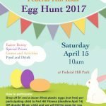Federal Hill Kids Egg Hunt on April 15th at Federal Hill Park