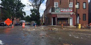 Water Main Break at Fort Avenue and Jackson Street in Riverside