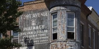 Formstone Removal on Fort Ave. Reveals Old Murals