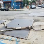 Road Condition on Fort Avenue Causes Car to Lose its Exhaust System