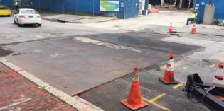 New Sinkhole on Charles Street in Otterbein