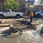 Water Main Breaks on Fort Avenue