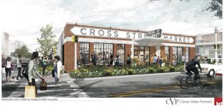 New Design for Cross Street Market Gives Nod to the 1950s