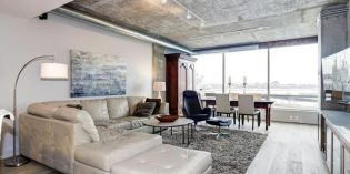 Mid-Week Listing: Locust Point Condo with Gourmet Kitchen, Concrete Ceilings, and Water Views