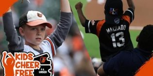 Kids Under Nine Can Attend Orioles Games for Free