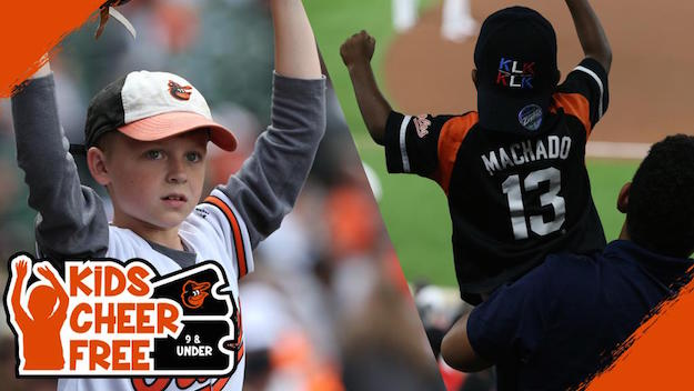 Orioles offer free tickets to kids 9 and under