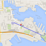Course Map for Tomorrow's Port to Fort 6k in South Baltimore