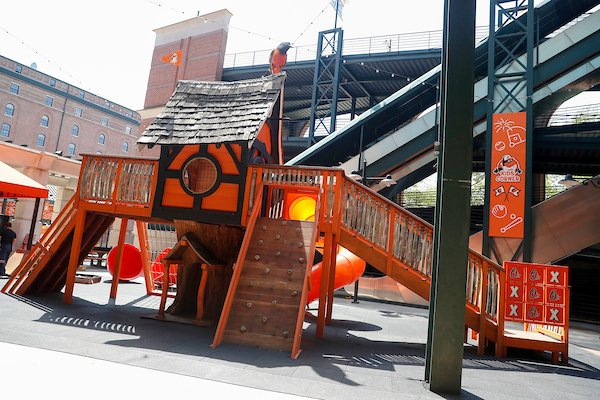 New Playground Opens At Oriole Park At Camden Yards