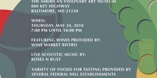 17th Annual Federal Hill South Neighborhood Association Wine Tasting This Thursday at AVAM