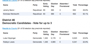Gubernatorial Primary Election Results
