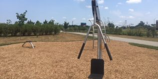 Outdoor Fitness Equipment Installed at West Covington Park in Port Covington
