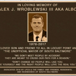 Funds Being Raised for an Alex Wroblewski Plaque at the Entrance to Latrobe Park