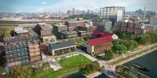 A Food Market, Apartments, and Office Buildings Planned for First Phase of Port Covington