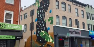New Mural on Light Street in Federal Hill