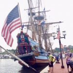 Tall Ships Kalmar Nyckel and Draken Harald Harfage at the Baltimore Harbor This Weekend