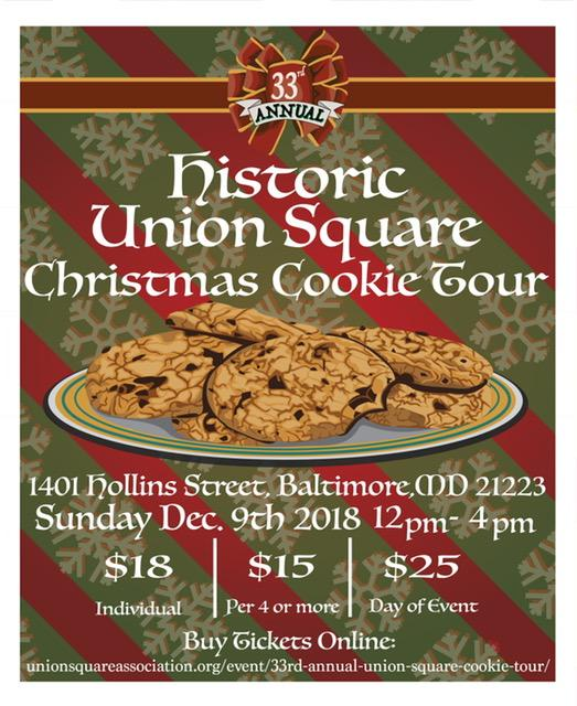 Christmas Cookie Tour Baltimore Md 2020 Union Square Cookie Tour on Sunday, December 9th