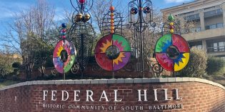 A New Sculpture Added to Entrance of Federal Hill