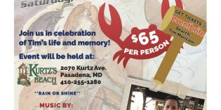 Tim Moriconi Crab Feast on August 3rd