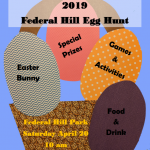 Egg Hunts Schedule for Federal Hill Park and Riverside Park