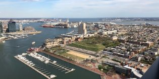 Views From the Top Floors of 44-Story '414 Light Street' in the Inner Harbor