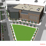 Mixed-Use Building with a Parking Garage, Grocery Store, and Apartments Planned for Port Covington