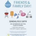 Friends & Family Day at Riverside Park Pool on July 28th