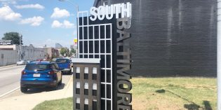 New 'South Baltimore' Sign Installed at Hanover and Wells Street
