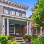 Million Dollar Monday: Montgomery Street Rowhome Built in 1825 with a Front Yard, an Outdoor Kitchen, and Garage Carriage House,