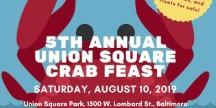 5th Annual Union Square Crab Feast on Saturday, August 10th