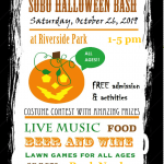 The SOBO Halloween Bash on October 26th at Riverside Park