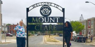 New Sign Installed in the Mount Clare Neighborhood