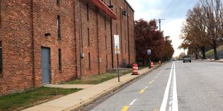 Covington Street Cycle Track Installed in Federal Hill and Riverside