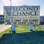 Second Chance Uses Russell Street Sign to Make Joke about the Houston Astros