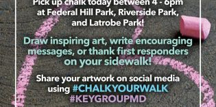 Pick Up Chalk Today at South Baltimore Parks for 'Chalk Your Walk'