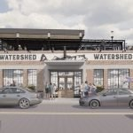 Updated Rooftop Deck Renderings for Atlas Restaurant Group's 'Watershed' at Cross Street Market