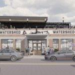 Updated Rooftop Deck Renderings for Atlas Restaurant Group's 'Watershed' at Cross Street Market