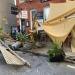 SoBo Café's Parklet Destroyed by a Car Sunday Morning but Quickly Rebuilt and Reopened