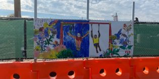 Banners Painted by Francis Scott Key Students On Display at Rash Field Construction Site