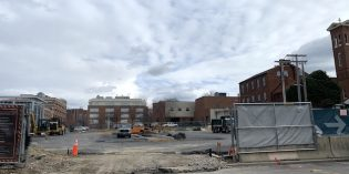 Large 'Hole-in-the-Ground' Construction Site at the UM BioPark Converted into a Parking Lot