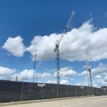 Third Tower Crane Going Up at Port Covington, Total of Five Cranes Planned