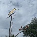 Pig Weathervane Sculpture Installed at Carroll Park in Pigtown